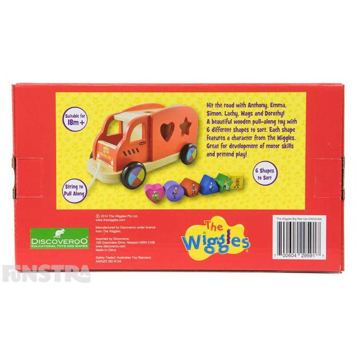 The pull along shape sorter is suitable for toddlers aged over 18 months and is sure to offer lots of fun learning.