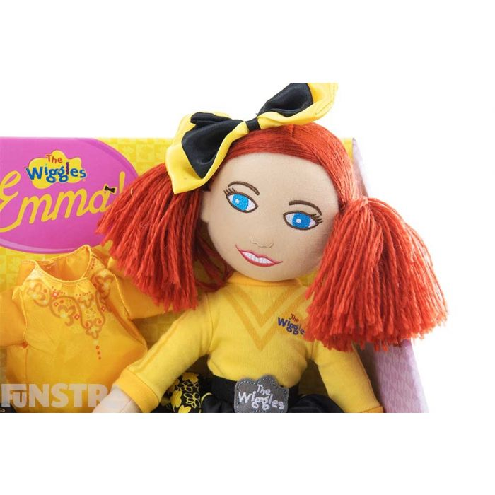 Doll looks just like the yellow Wiggle, with beautiful red hair and her signature bow