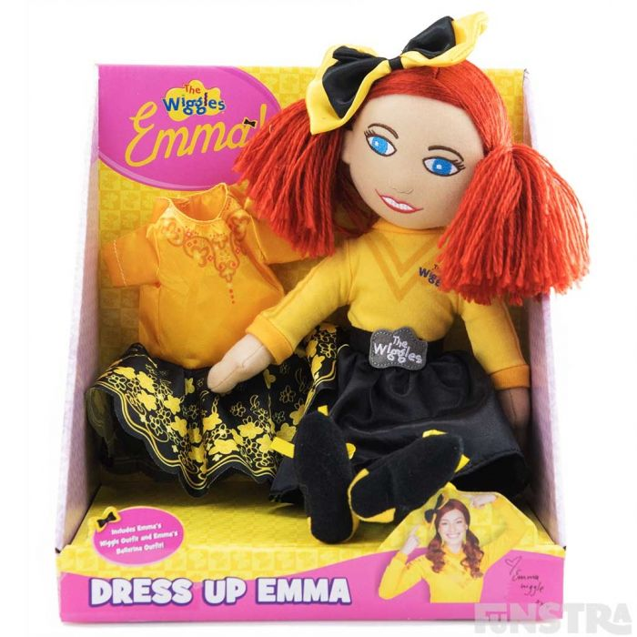 Dress up Emma Wiggle in her traditional yellow outfit and a ballerina costume with a tutu