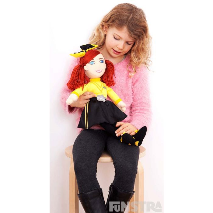 Soft rag doll is the perfect Wiggly companion for children that love the yellow member of the Wiggles.