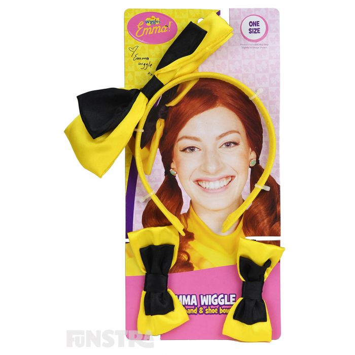 Yellow or Black Batman Toddler Hair Bow Set