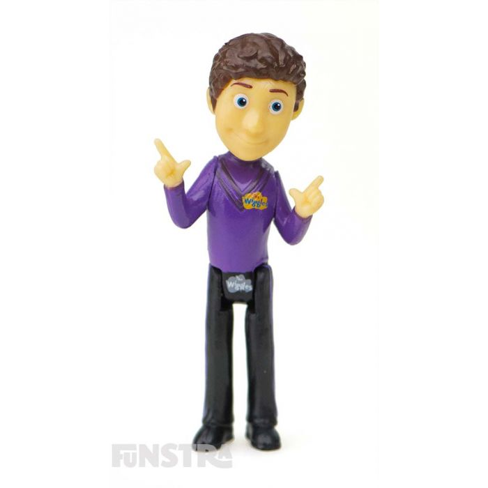 It's the purple Wiggle figurine, Lachy! Lachy Wiggle is a sleepy head, has curly hair, and loves to play the piano and ride Ponso pony.