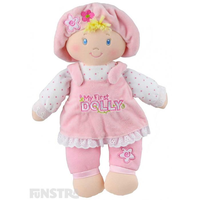 Every baby girl would love the cutest little doll from Gund, 'My First Dolly'.