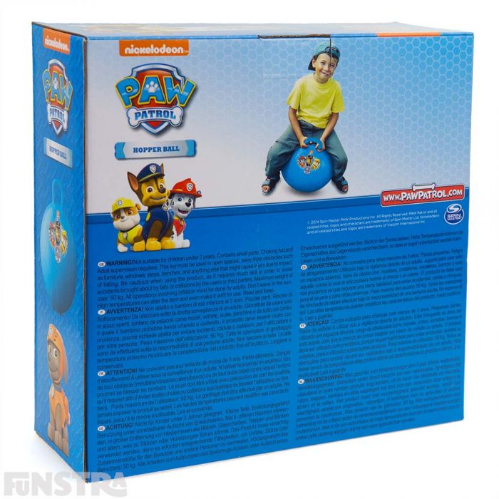 The hopper ball is lots of fun, keeps children physically active and a fun toy for little PAW Patrol fans.