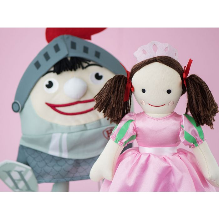 Collect Humpty Dumpty dressed up as a knight in shining armour in the Play School plush collection.