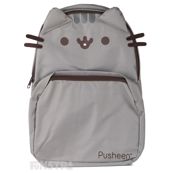 Pusheen the cat shaped backpack with her cute face, ears and whiskers