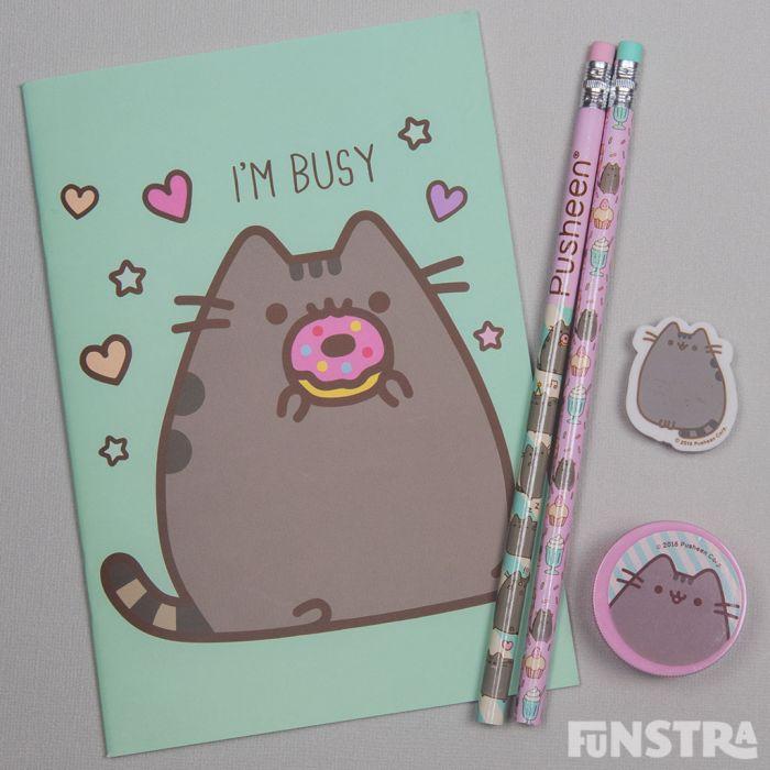 Notepad, pencils, eraser and pencil sharpener