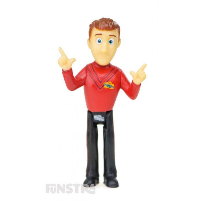 It's the red Wiggle figurine, Simon! Simon Wiggle loves to sing opera and play 'Simon Says'.