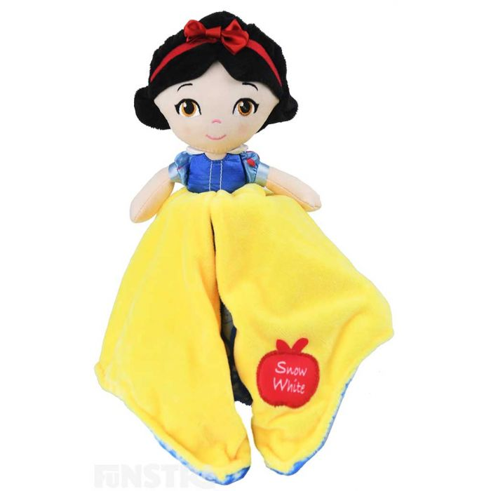 Snow White wears her beautiful yellow, blue and red gown and is super soft and ready for lots of cuddles.