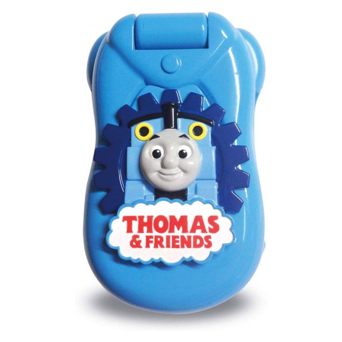 The Thomas and Friends phone folds shut with Thomas the Tank Engine and the official Thomas and Friends logo on the front.