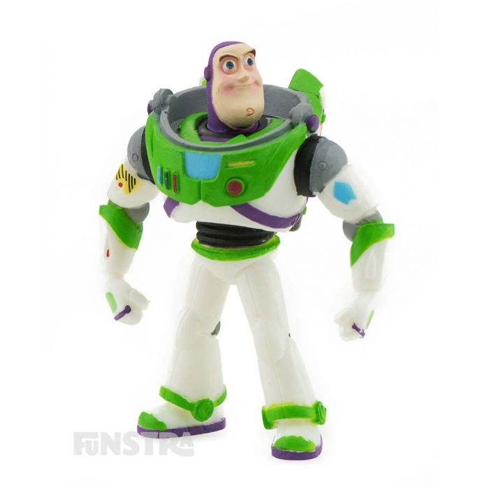 To Infinity and Beyond! It's space ranger and the defender of the galaxy, Buzz Lightyear from Toy Story, a fun toy for imaginative play and makes a cute cake topper for your Toy Story party.