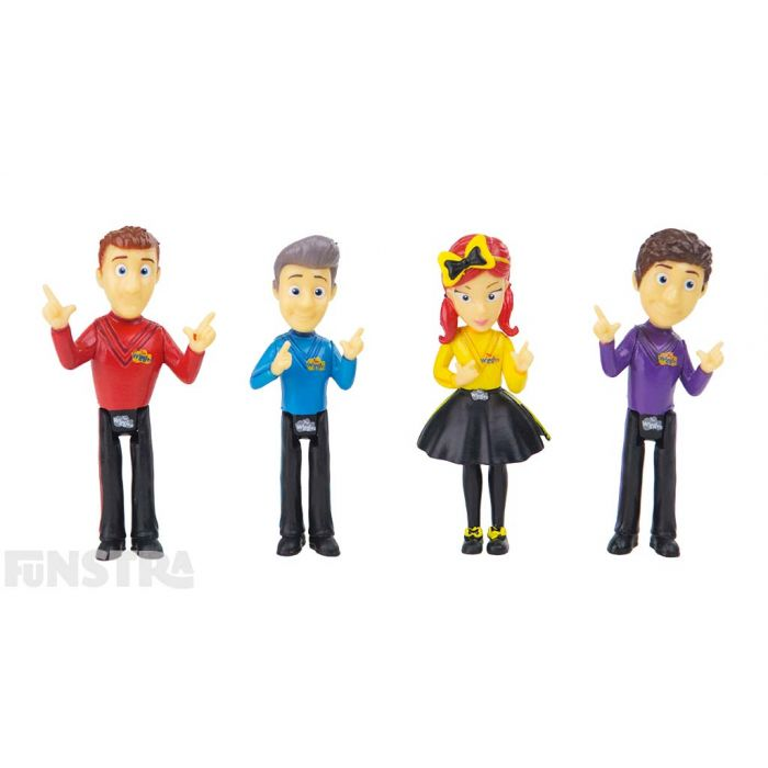 Ready, steady, wiggle! Play with Simon, Anthony, Emma and Lachy miniatures in their classic finger pointing dance move.