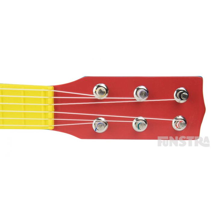 With 6 nylon strings, children can sing and play along to their favourite Wiggles songs.