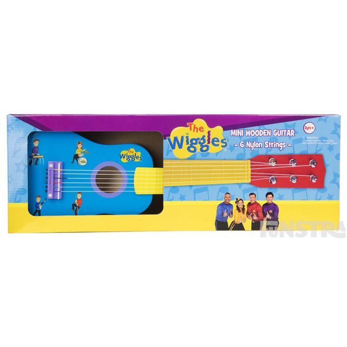 Guitar comes in a box and makes the perfect gift for little Wiggles fans.