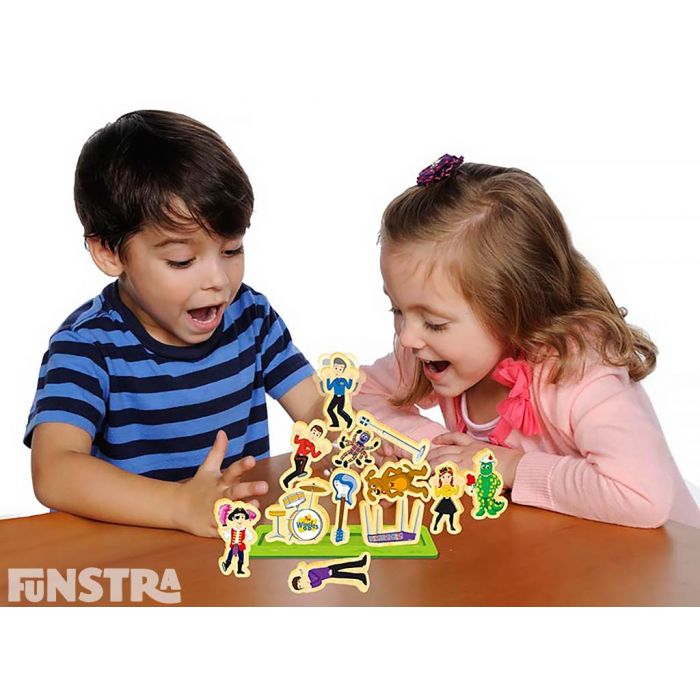 Perfect for children that love the Wiggles, the wooden Pile Up board game makes a great gift for little Wigglers.