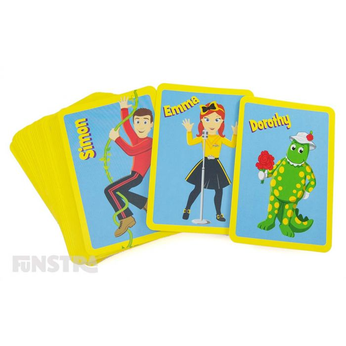 Beautifully vibrant cards feature all your favourite Wiggles characters with Dorothy, Wags, Henry and Captrain Feathersword.