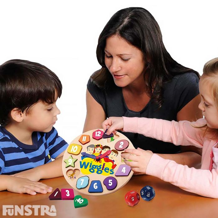 The Wiggles clock is a wonderful educational tool for children to not only learn how to tell the time, but learn shapes, colours and how to count too.