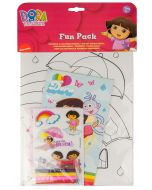 Join Dora on fun activities in this pack containing coloring pages, pencils and stickers.