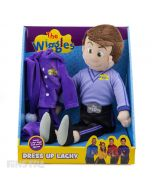 Wake up Lachy! Dress up Lachy into his purple pyjamas and night cap or his Wiggly outfit, so he's ready to sing and dance.