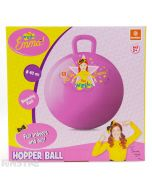 Little stars can bounce around with Emma on this pink space hopper ball featuring everyone's favorite yellow Wiggle.