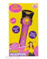 Sing and dance along with Emma, Lachy, Anthony and Simon as you perform the Wiggles songs with Emma's microphone toy.