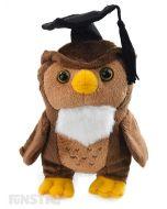 Graduation Owl Beanie Plush Toy