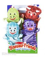 Dinosaur friends hand-puppet set makes it easy for kids and adults to role-play together!