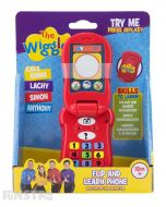 Call blue Anthony Wiggle, purple Lachy Wiggle, red Simon Wiggle and yellow Emma Wiggle on the flip and learn phone!